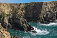 Dramatic landscape at Mizen Head on Atlantic coast