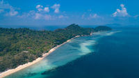 Aerial view of beautiful tropical paradise island in Thailand