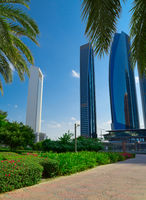 Park in Abu Dhabi city at sunny day