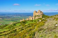 Castillo de Loarre in Aragonien, Spanien - Castillo de Loarre near Huesca, Aragon in Spain