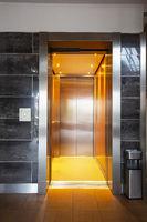Building Elevator with open door in apartment complex luxury
