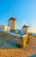 Old windmillls of Mykonos