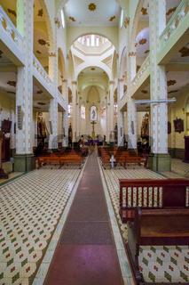 interior of Jesus De Nazarene Church In El Prado district in Medellin