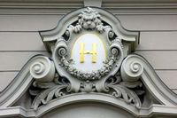 Monogram on the coat of arms, Prague