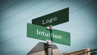 Street Sign Intuition versus Logic