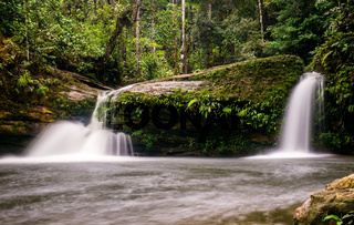 Smallwaterfall at Fin del Mundo Waterfall in Mocoa, Colombia
