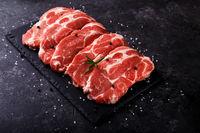 Slices pork loin