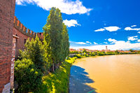 Adige river and Verona riverfront view from Castelvecchio Bridge