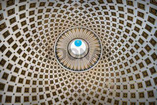 Geometric pattern of The Mosta Dome church, Malta.