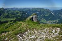 Bregenzerwald; Blick von der Kanisfluh auf Hoher Stoß und Mella
