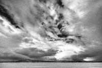 Akkamassiv in Wolken, Lappland