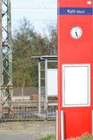 Bahnhofsuhr Bahnhof Kahl