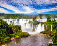 Incredible exotic waterfalls of Iguazu