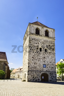 Freistehender Glockenturm der BartholomŠuskirche, Zerbst/Anhalt, Sachsen-Anhalt, Deutschland