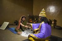 Sant Janabai and Vitthal, Hadshi Temple, Sant Darshan Museum near tikona Vadgoan Maval, District Pune, Maharashtra, India