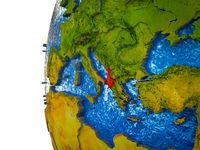Albania on 3D Earth
