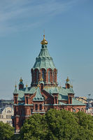 Uspenski Cathedral, an Eastern Orthodox cathedral in Helsinki, Finland, dedicated to the Dormition of the Theotokos (the Virgin Mary)
