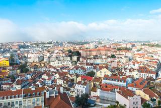 Lisbon seen from viewpoint Miradouro da Senhora do Monte