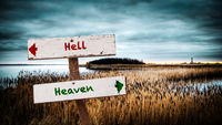 Street Sign Heaven versus Hell