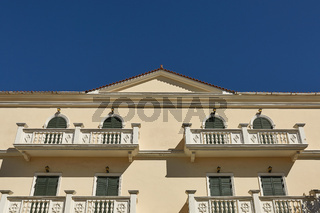 Facade Detail of Residential House in Zakynthos Island, Ionian Sea, Greece, Europe.