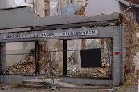 Ruine eines alten Geschäftes