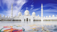 Sheikh Zayed mosque in Abu Adabi city
