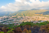 Aerial view of Piedecuesta City Colombia