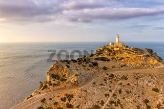 Mallorca Cap Formentor Landschaft Natur Leuchtturm Meer Textfreiraum Copyspace Balearen Reise Reisen Spanien