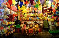 lanterns kiosk at lantern street