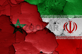 flags of Morocco and Iran