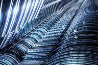 Futuristic skyscraper in Kuala Lumpur