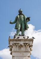 Statue of politician in Portagem Square Coimbra