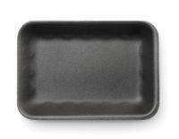 Black empty foam food tray