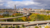 Waterfront View Highway On Off Ramp Hudson River Albany New York