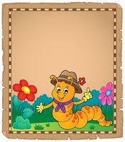 Happy caterpillar theme parchment 2