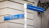 Street Sign to Cozy versus Uncomfortable