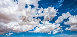 blue cloudy sky panorama