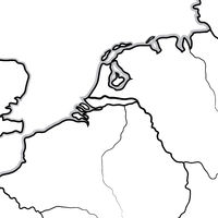 Map of The Netherlandish Lands: The Netherlands, Belgium, Luxembourg (Benelux). Geographic chart.