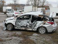 terrible car accident Hyundai Solaris