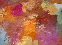 farben bunt pinselstriche spachtel