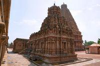 Subrahmanyam shrine, Brihadisvara Temple complex, Tanjore, Tamil Nadu. View from North West.