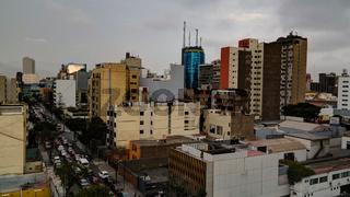 aerial view to Miraflores district, Lima, Peru