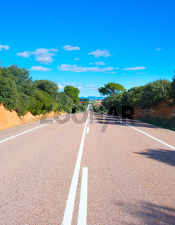 Spanish country road view