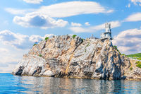 Crimean Cape and the Swallow Nest Castle, beautiful sea view