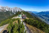 Hiking at the Kreuzjoch in the Stubaital in Austria