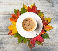 Autumn coffee time