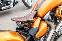 Motorcycle classic leather seat