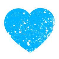 Azure grungy heart
