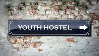 Street Sign to Youth Hostel