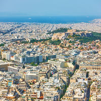Athens city from Mount Lycabettus,